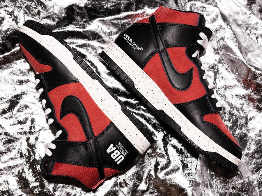 Nike x Undercover Dunk High 1985 Gym Red UBA DD9401-600