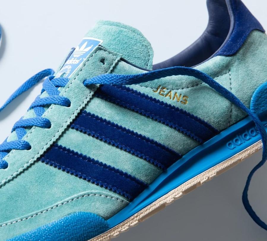 Adidas Jeans 21 bleue et verte (1)