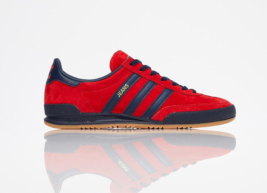 Adidas Jeans rouge et bleu foncé