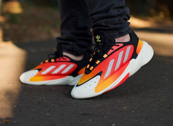 Adidas Ozelia Adiprene Black Orange Matte Silver 3M Reflective