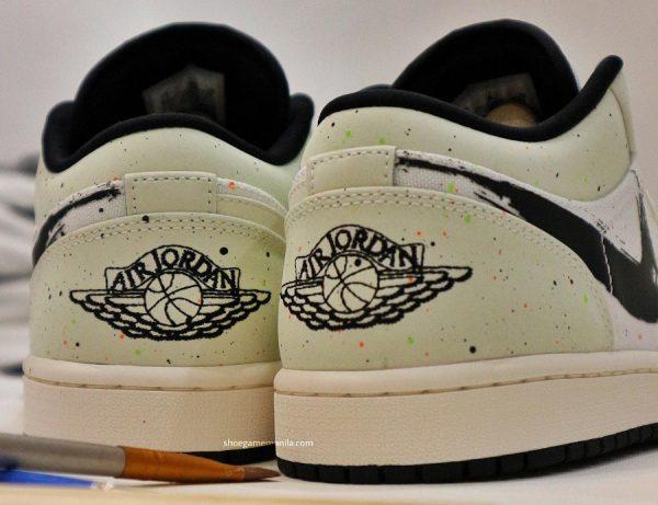 Air Jordan 1 Low Edition Special Swoosh coup de pinceau (1)