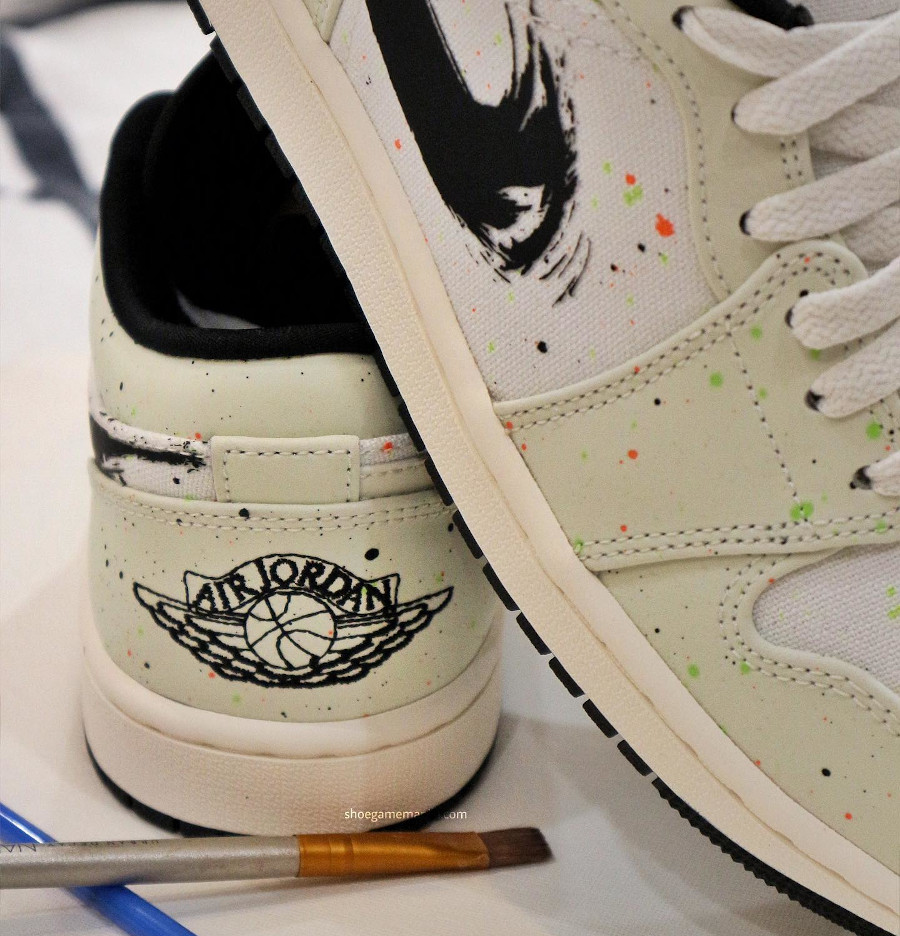 Air Jordan 1 Low Edition Special Swoosh coup de pinceau (3)