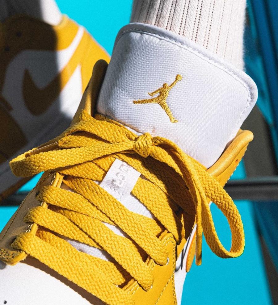 Air Jordan 1 Low Pollen on feet (1)