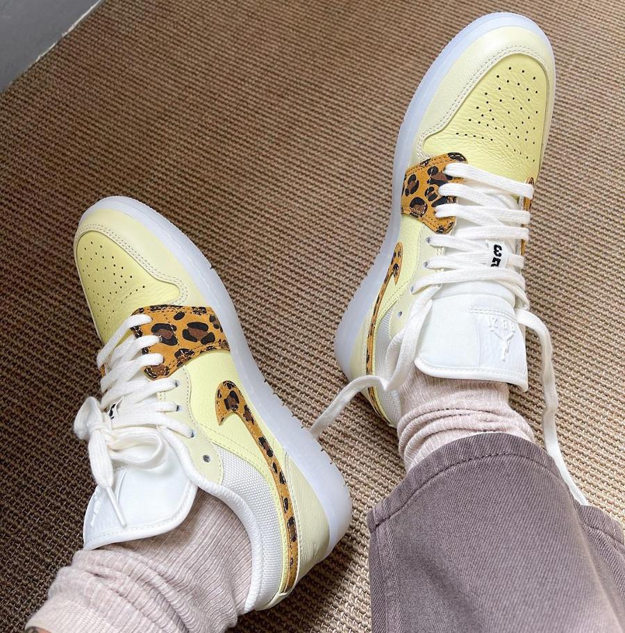 Air Jordan 1 Low Snkrs Day on feet