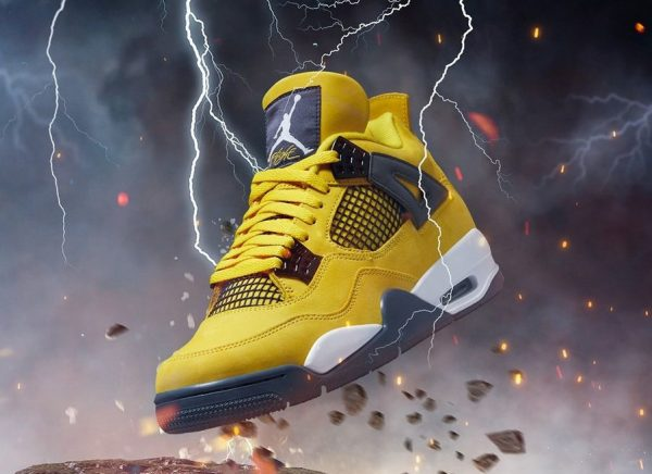 Air Jordan 4 Retro 'Lightning' Tour Yellow 2021 (couv)