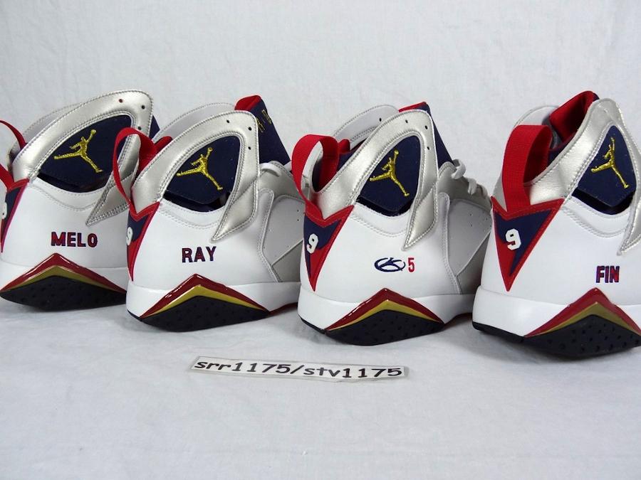 Air Jordan 7 PE Olympic Melo Ray Allen Jason Kid
