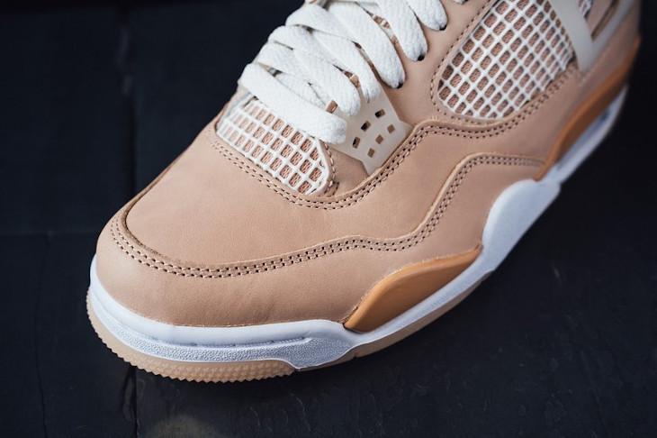 Air Jordan IV beige et marron pour femme (2024)