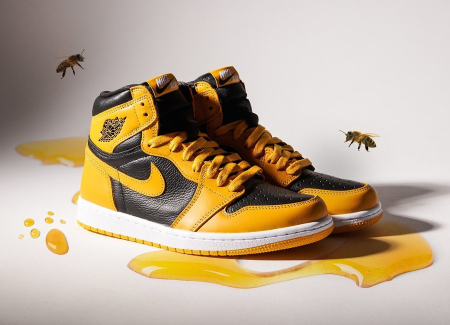 Air Jordan One Hi noire et jaune (1)
