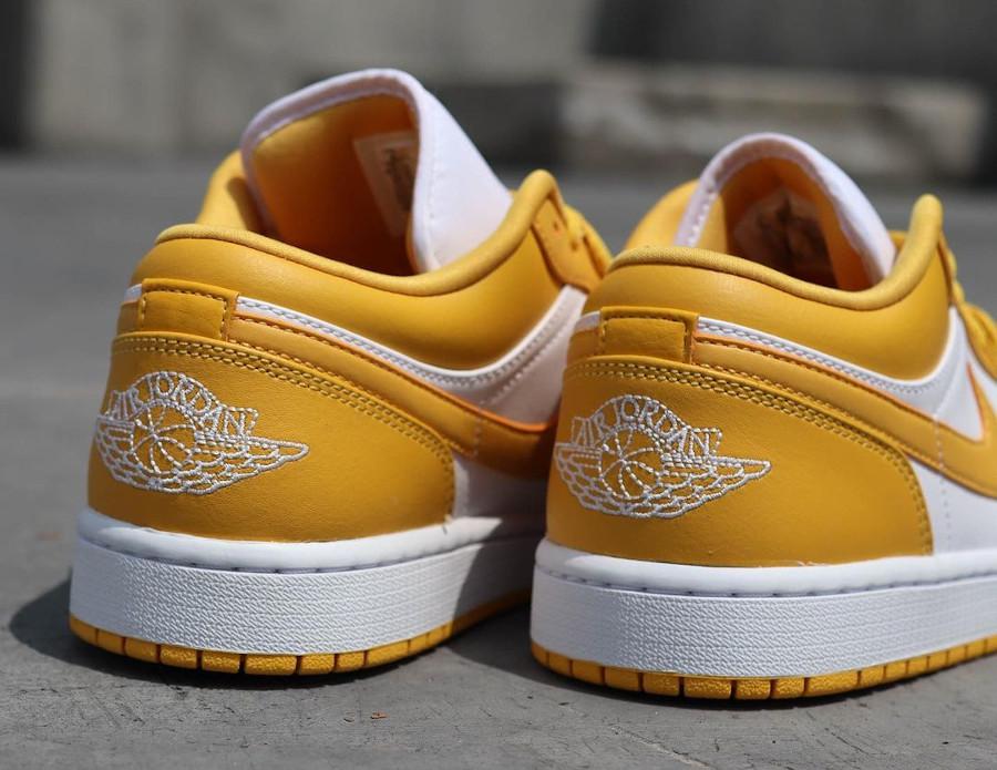 Air Jordan One Lo blanche et jaune moutarde (1)