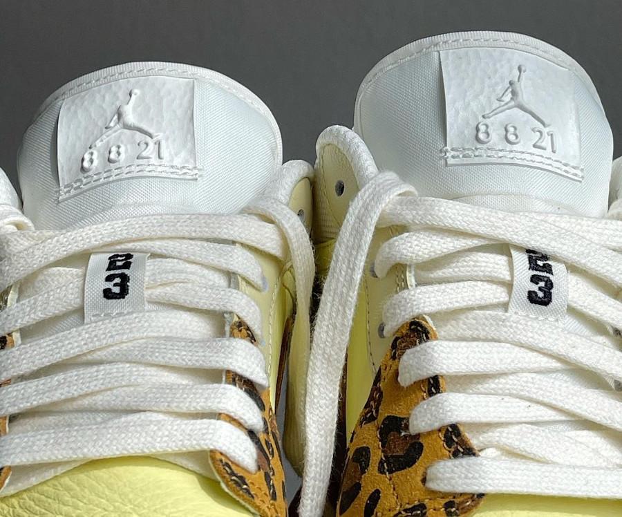 Air Jordan One Low Safari jaune et beige (2)