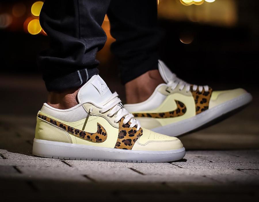 Air Jordan One Low Safari jaune et beige (6)