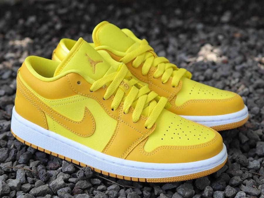 Air Jordan One Low pour fille jaune moutarde (1)