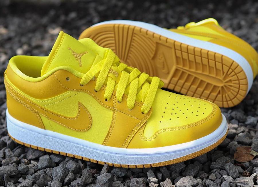 Air Jordan One Low pour fille jaune moutarde (2)