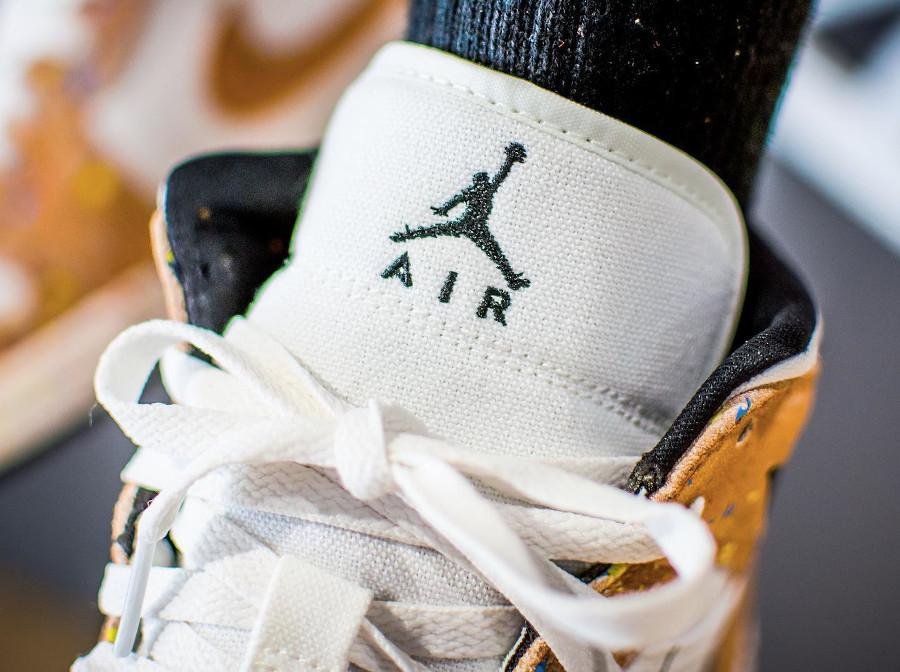 Air Jordan One Mid 2021 (coup de pinceau) on feet (1)