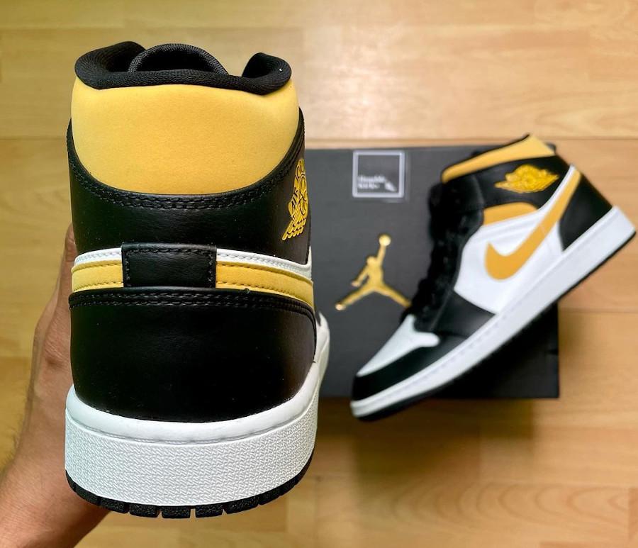 Air Jordan One Mid 2021 jaune et noire (3)
