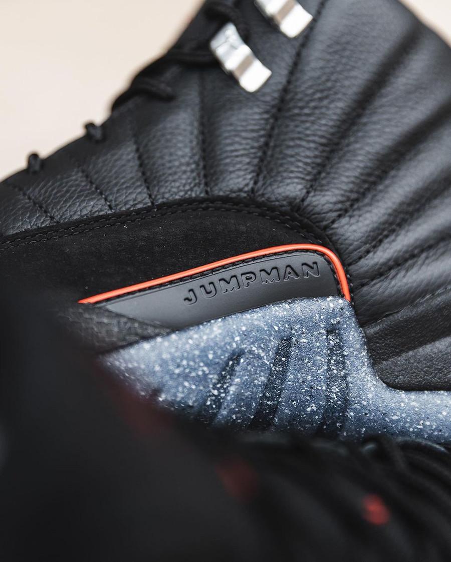 Air Jordan XII noire avec une semelle recyclée (4)
