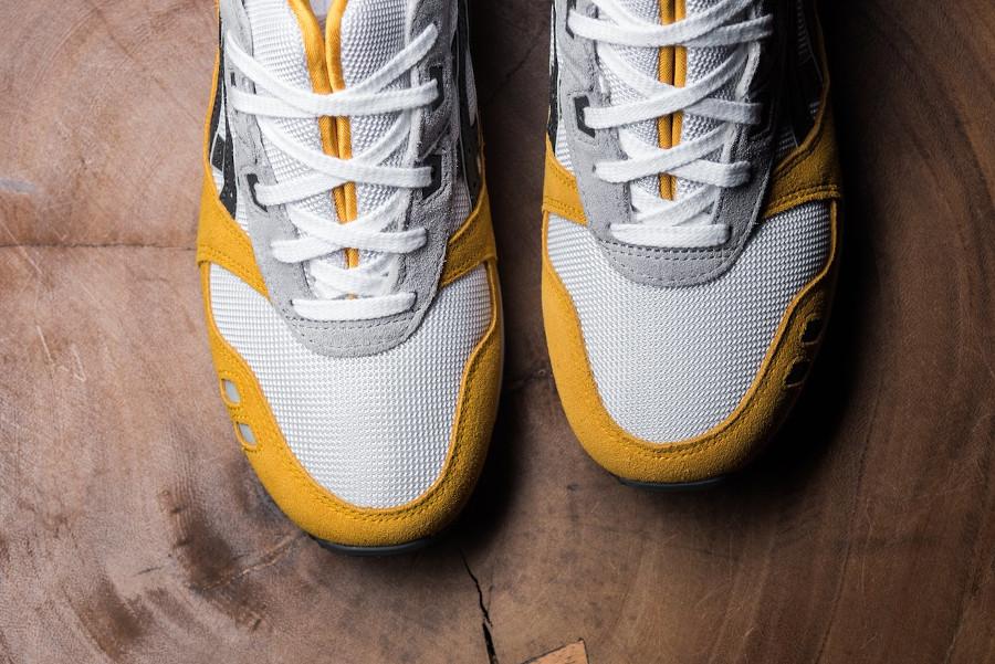 Asics GL3 blanche grise et jaune moutarde (5)