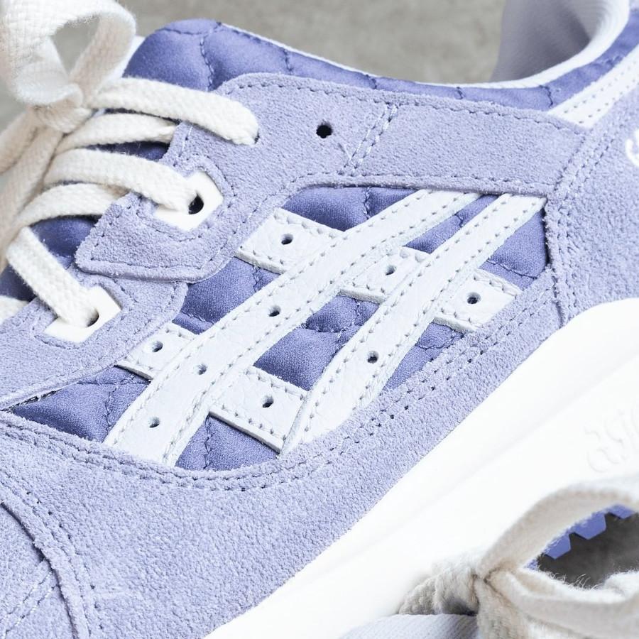 Asics GL3 en suède violet (motif bandana) (3)