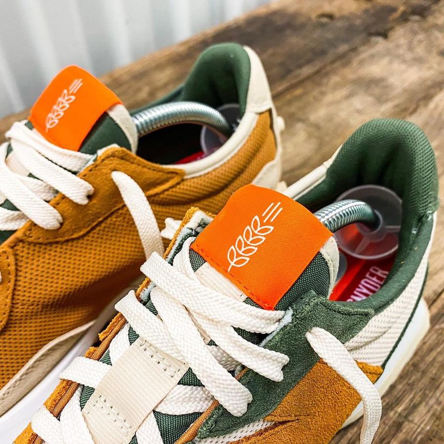 New Balance 327 TS beige marron et verte (1)