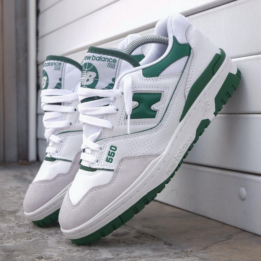 New Balance 550 blanche et verte (1)