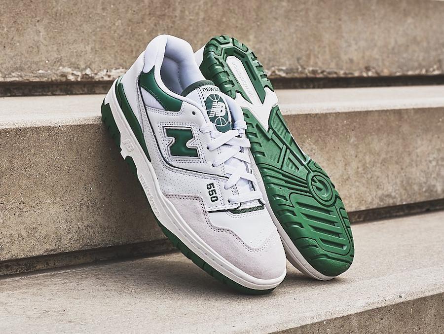 New Balance 550 blanche et verte (3)