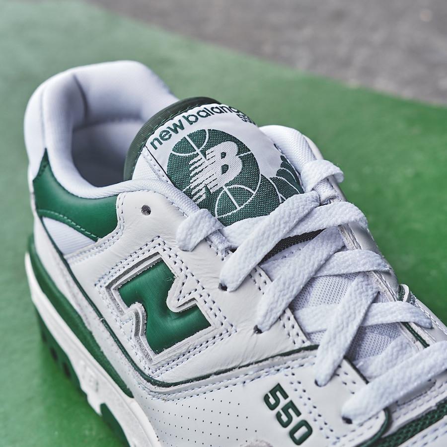 New Balance 550 blanche et verte (4)