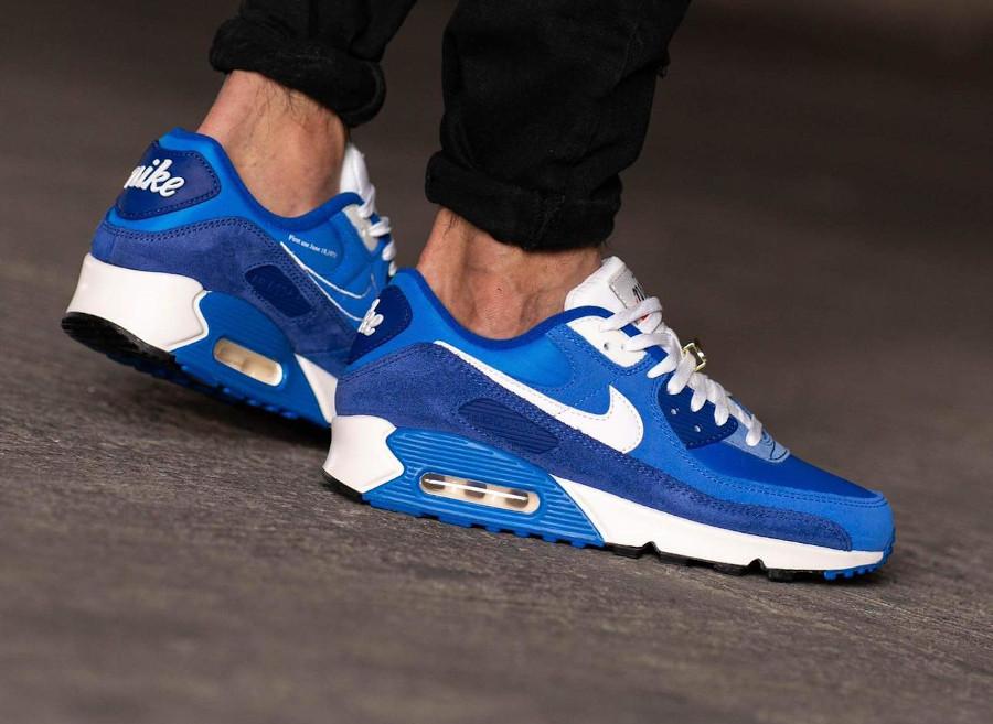 Nike AM90 PRM FU bleue (4)