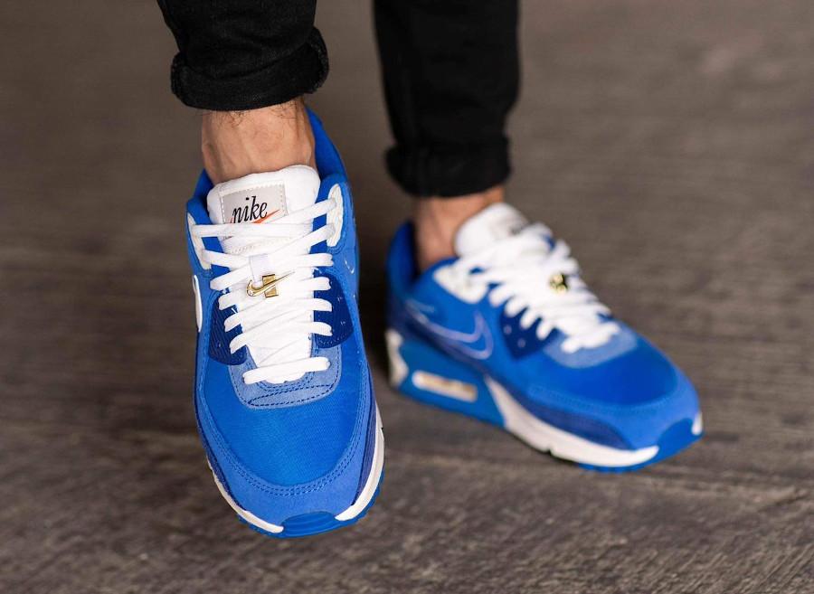 Nike AM90 PRM FU bleue (6)