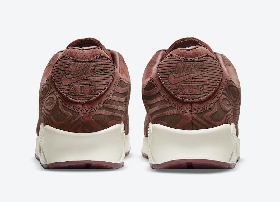 Nike AM90 bordeaux gravures de bois (2)