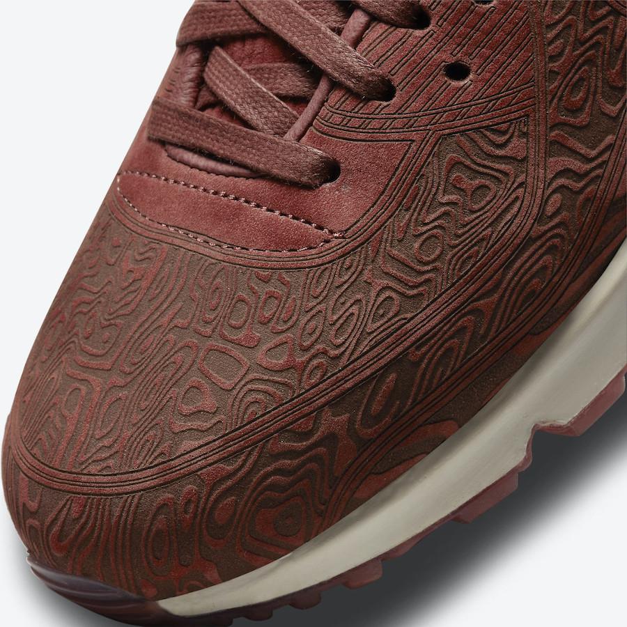 Nike AM90 bordeaux gravures de bois (3)