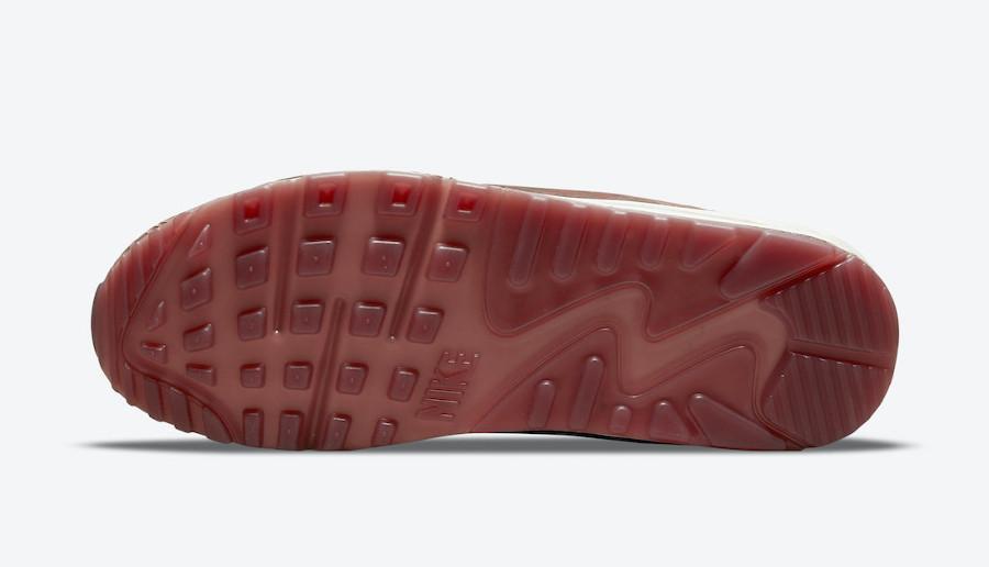 Nike AM90 bordeaux gravures de bois (5)