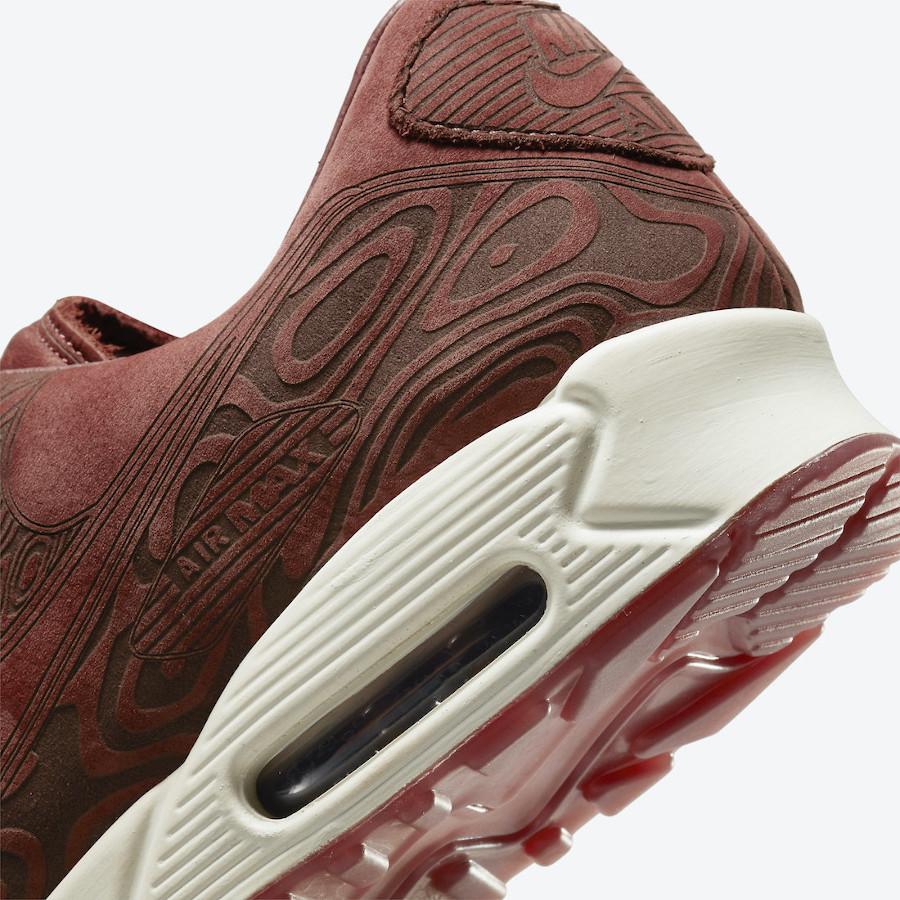Nike AM90 bordeaux gravures de bois (8)