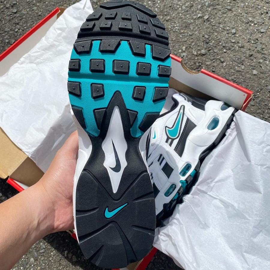 Nike AM96 2 blanche noire et bleu turquoise (4)