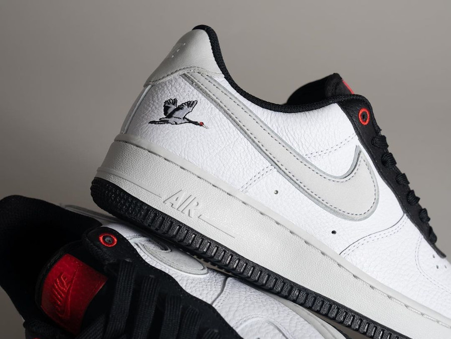Nike Air Force 1 AF1 '07 LX 'Crane' Milky Stork White Photon Dust Black Chile Red