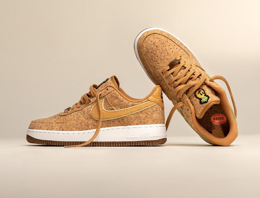 Nike Air Force One en liège (tête d'ananas (1)