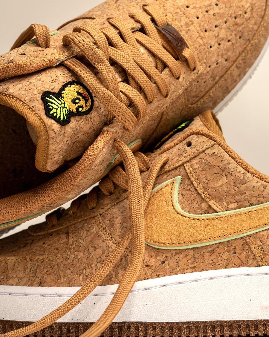 Nike Air Force One en liège (tête d'ananas (2)