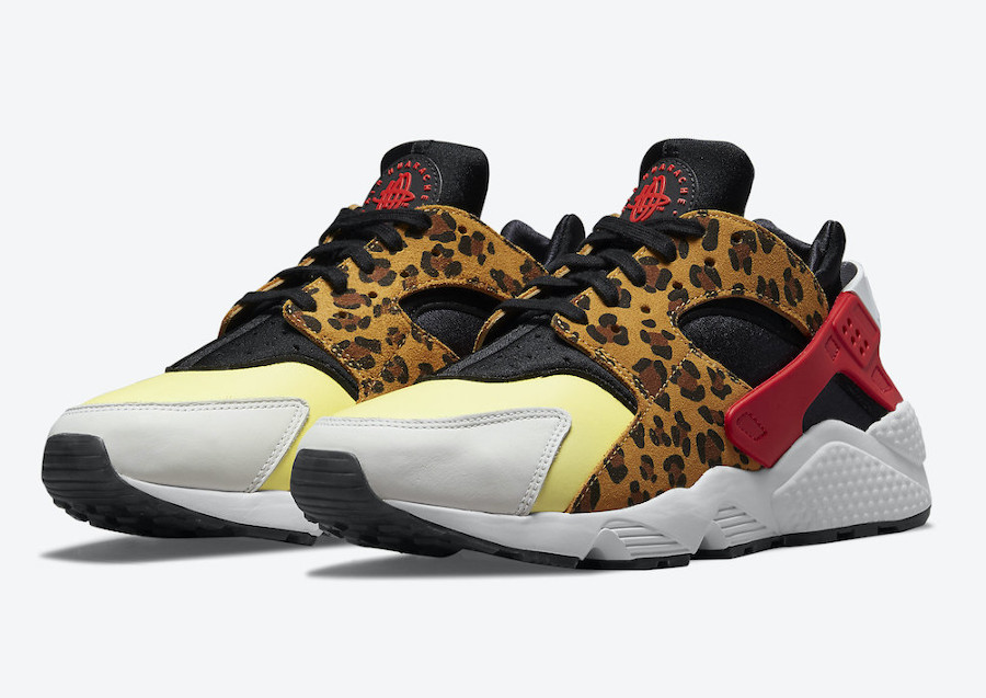 Nike Air Huarache Cheetah jaune et rouge (1)