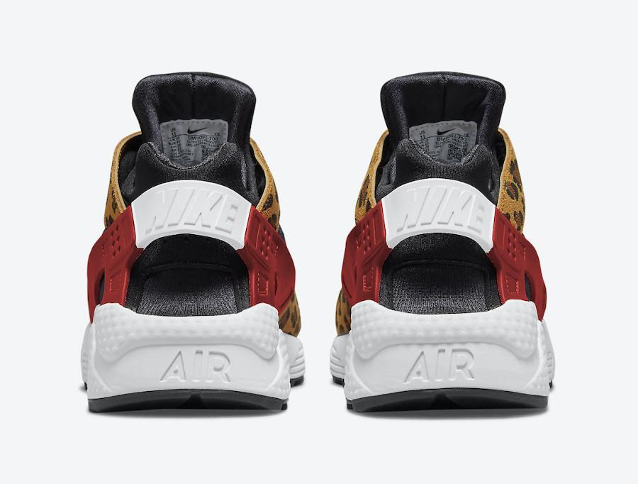 Nike Air Huarache Cheetah jaune et rouge (2)