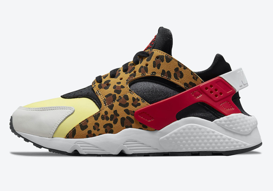 Nike Air Huarache Cheetah jaune et rouge (4)