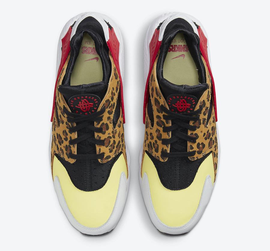 Nike Air Huarache Cheetah jaune et rouge (7)