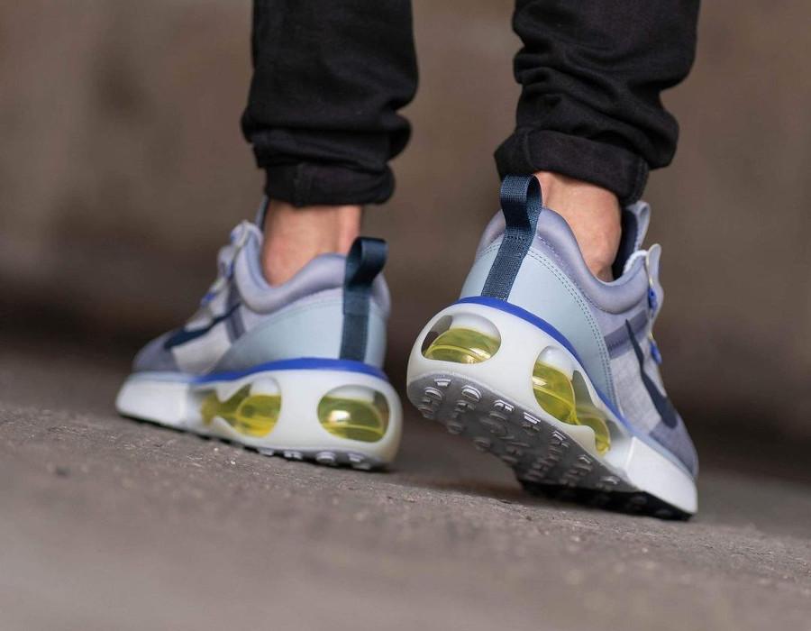 Nike Air Max 2021 violet lavande vert fluo on feet (3)
