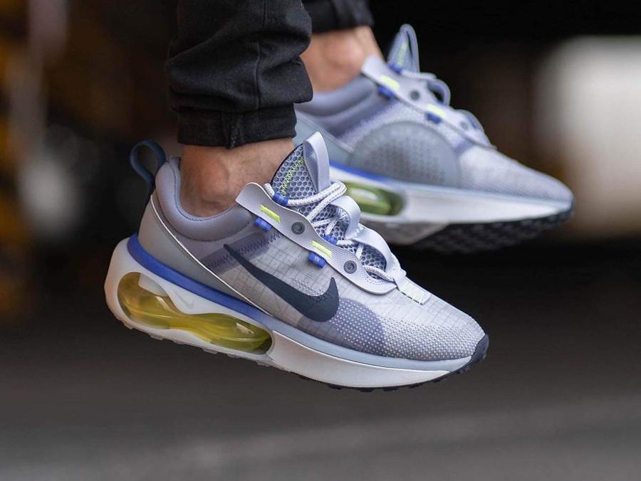 Nike Air Max 2021 violet lavande vert fluo on feet (7)