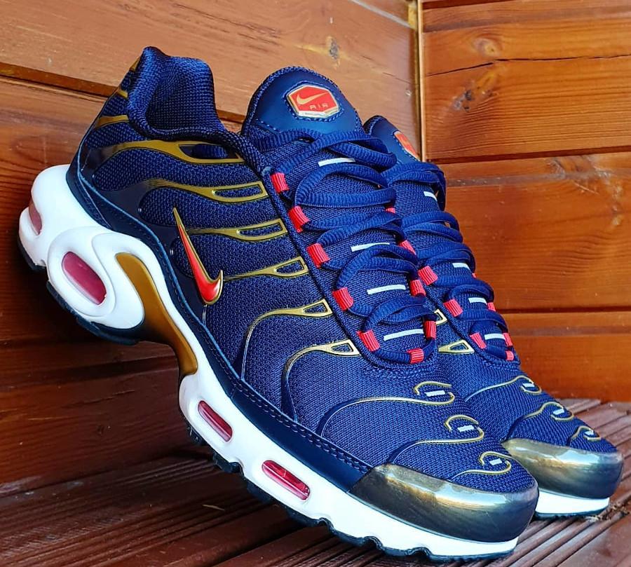 Nike Air Max Tuned 1 bleu marine rouget et doré (5)