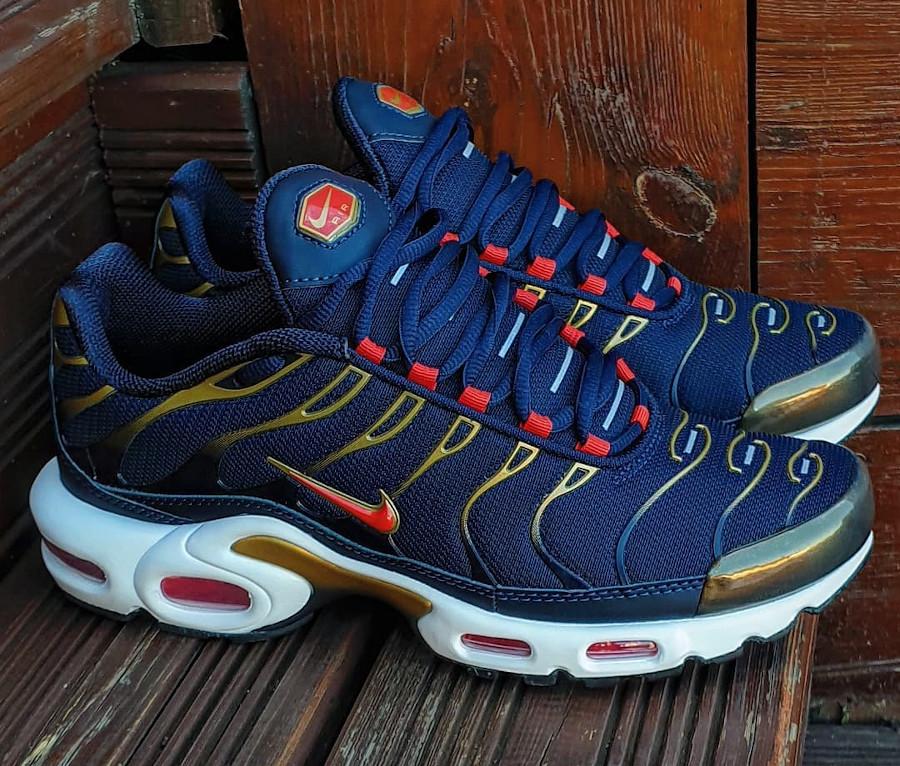 Nike Air Max Tuned 1 bleu marine rouget et doré (6)