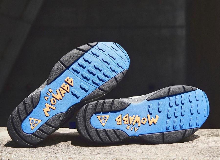 Nike Air Mowabb beige bleue et orange (5)