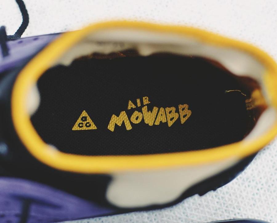 Nike Air Mowabb noire et jaune (suède violet) (1)
