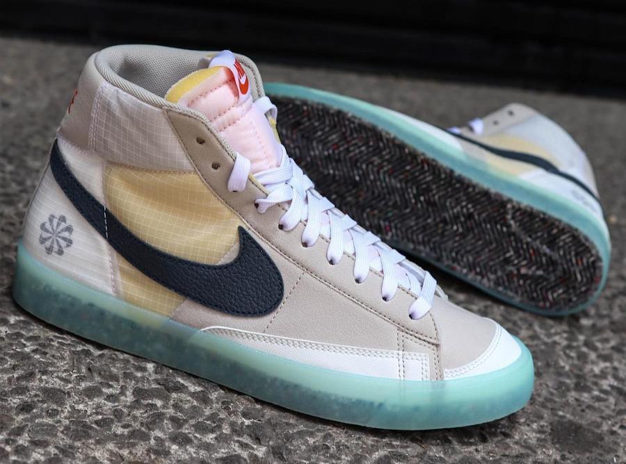 Nike Blazer Mid recyclée style Sacai (semelle transparente) (3)