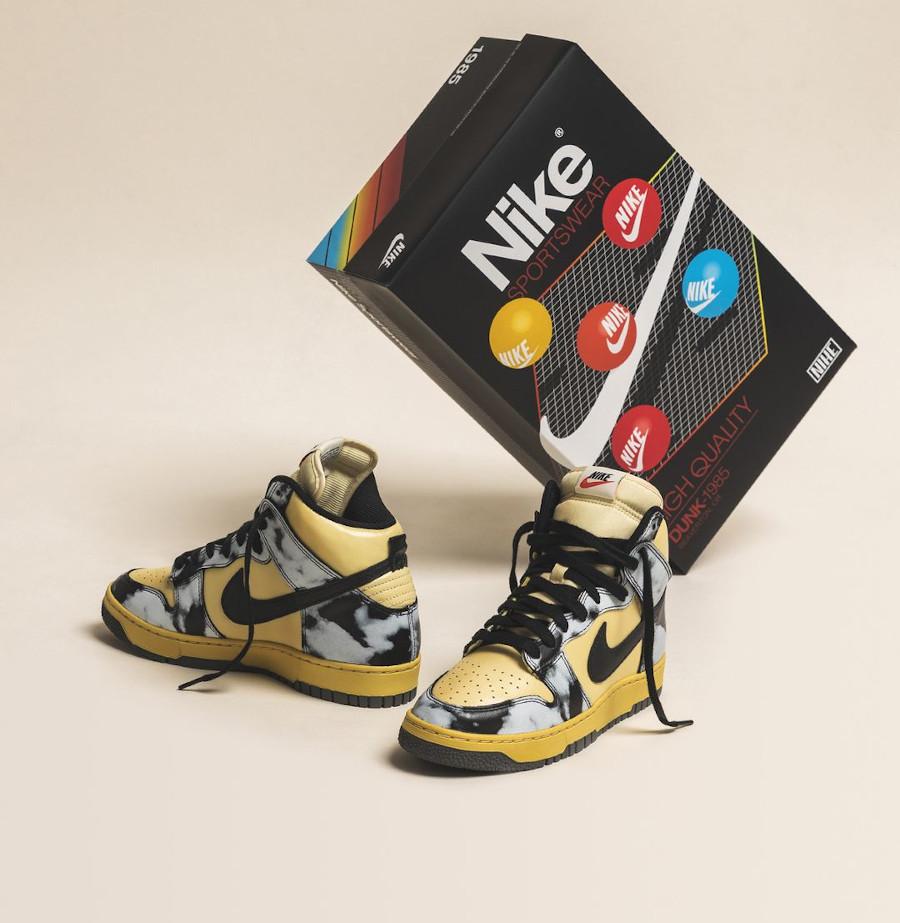 Nike Dunk Hi 85 vintage noire (2)