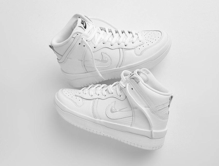 Nike Dunk Hi Rebel plateforme blanche (1)