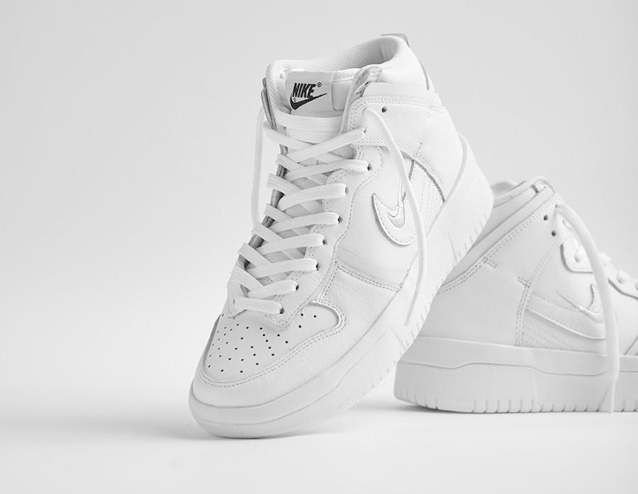 Nike Dunk Hi Rebel plateforme blanche (2)